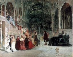 Илья Ефимович Репин. Сцена из балета. Эскиз