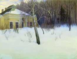 Станислав Юлианович Жуковский. Под вечер. В заброшенной усадьбе зимой