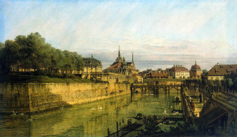 Bernardo Bellotto. Moat of the Zwinger in Dresden