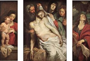 Peter Paul Rubens. Lamentation Of Christ