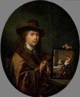 Геррит (Герард) Доу. Автопортрет с портретом родителей и брата