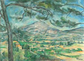 Paul Cezanne. Mount Sainte-Victoire with large pine