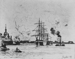 Ян Бартолд Йонгкинд. Старая гавань Роттердама