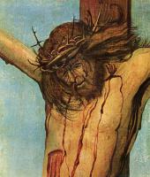 Альбрехт Альтдорфер. Распятый Христос с Марией и Иоанном, деталь: Христос