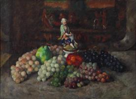Илья Иванович Машков. Виноград со статуэткой