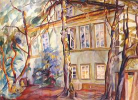Григорьев. Дом под деревьями
