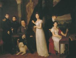 Василий Андреевич Тропинин. Семейный портрет графов Морковых