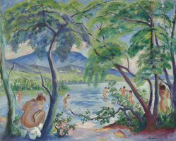 Henri Manguin. Landscape with bathers, Colombier