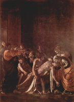 Микеланджело Меризи де Караваджо. Воскрешение Лазаря