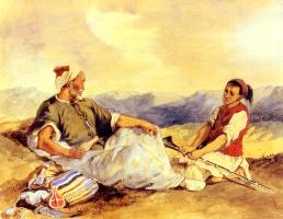 Эжен Делакруа. Двое марокканцев в деревне