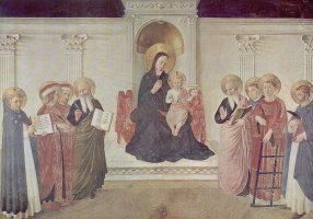 Фра Беато Анджелико. Мария с младенцем Христом и святыми