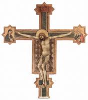 Симоне Мартини. Распятие, Христос с Марией и евангелистом Иоанном
