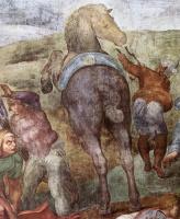 Микеланджело Буонарроти. Обращение Савла (фрагмент)