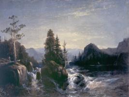 Алексей Петрович Боголюбов. Разлив реки Вохти