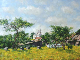 Roman Fedorovich Fedosenko. Summer in the village