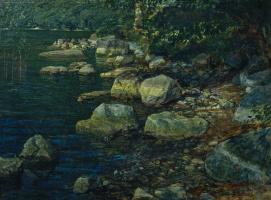 Александр Андреевич Иванов. Вода и камни под Палаццуоло, близ Флоренции. 1850-е