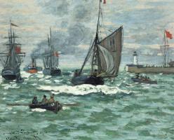 Claude Monet. The entrance to the port of Honfleur