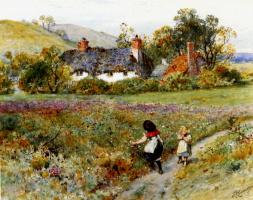 Уильям Стивен Колман. Дети собирают цветы