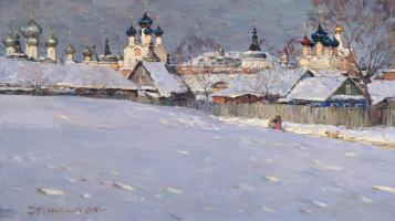 Rostov The Great.Podozerka.Oil on canvas 47,5 # 84,5 cm 2015