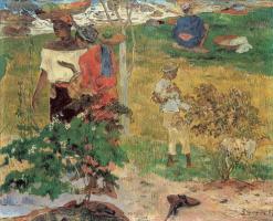 Paul Gauguin. Conversation (Tropics)