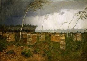 Isaac Levitan. Storm. Rain