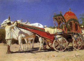 Vasily Vasilyevich Vereshchagin. Wagon rich people in Delhi