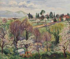 Анри Шарль Манген. Весенний пейзаж, Швейцария