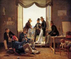Константин Хансен. Группа датских художников в Риме