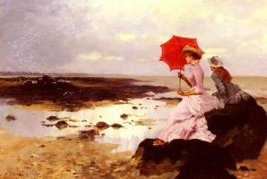 Эрнест Анж Дуез. Красный зонт