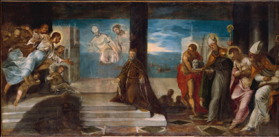 Jacopo (Robusti) Tintoretto. Doge Alvise Mocenigo appears before the Savior