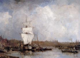 Йохан Хендрик ван Мастенброк. Харбор в Роттердаме
