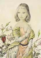 Цугухару Фудзита (Леонар Фужита). Девушка с розами
