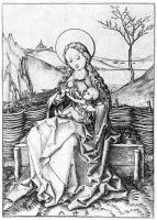 Martin Schongauer. Virgin with the baby