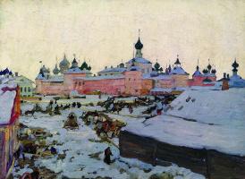 Konstantin Fedorovich Yuon. Spring evening. Rostov the Great. 1906