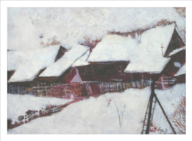 Олег Фёдоров. The house at the bottom of the ravine (Winter)