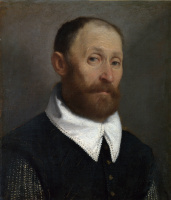 Джованни Баттиста Морони. Портрет мужчины с поднятыми бровями