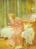 Лоуренс Альма-Тадема. Девушка, сидящая на мехах
