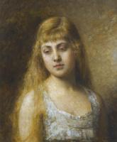 Алексей Алексеевич Харламов Россия 1840 - 1923. Портрет Фелии Литвин.
