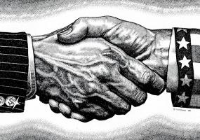 Рональд Чиронна. Рукопожатие