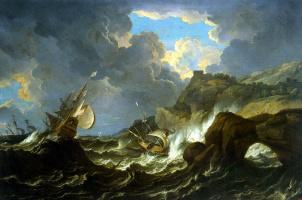 Пьетро Темпеста. Буря на море