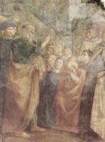 Томмазо Мазолино. Цикл фресок капеллы Бранкаччи в церкви Санта Мария дель Кармине во Флоренции, сцены из Жизни Петра, сцена: Проповедь св. Петра