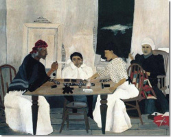 Horace Pippin. Players dominoes