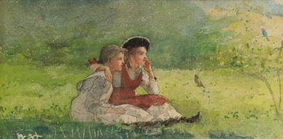 Winslow Homer. Listening to the birds