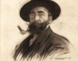 Рамон Касас Карбо. Self-portrait