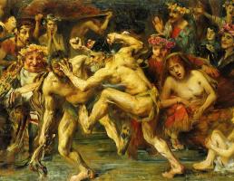 Ловис Коринт. Борьба Одиссея с нищим