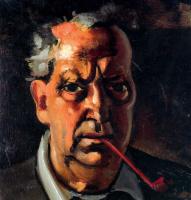 Андре Дерен. Автопортрет с трубкой