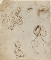 Леонардо да Винчи. Наброски людей