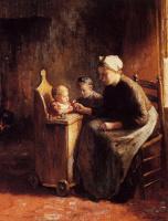 Бернар де Хуг. Мать с двумя детьми