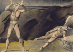 William Blake. Los and his son Orc