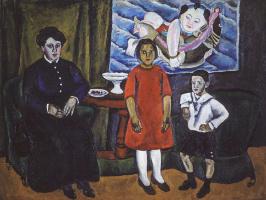 Петр Петрович Кончаловский. Семейный портрет (на фоне китайского панно)